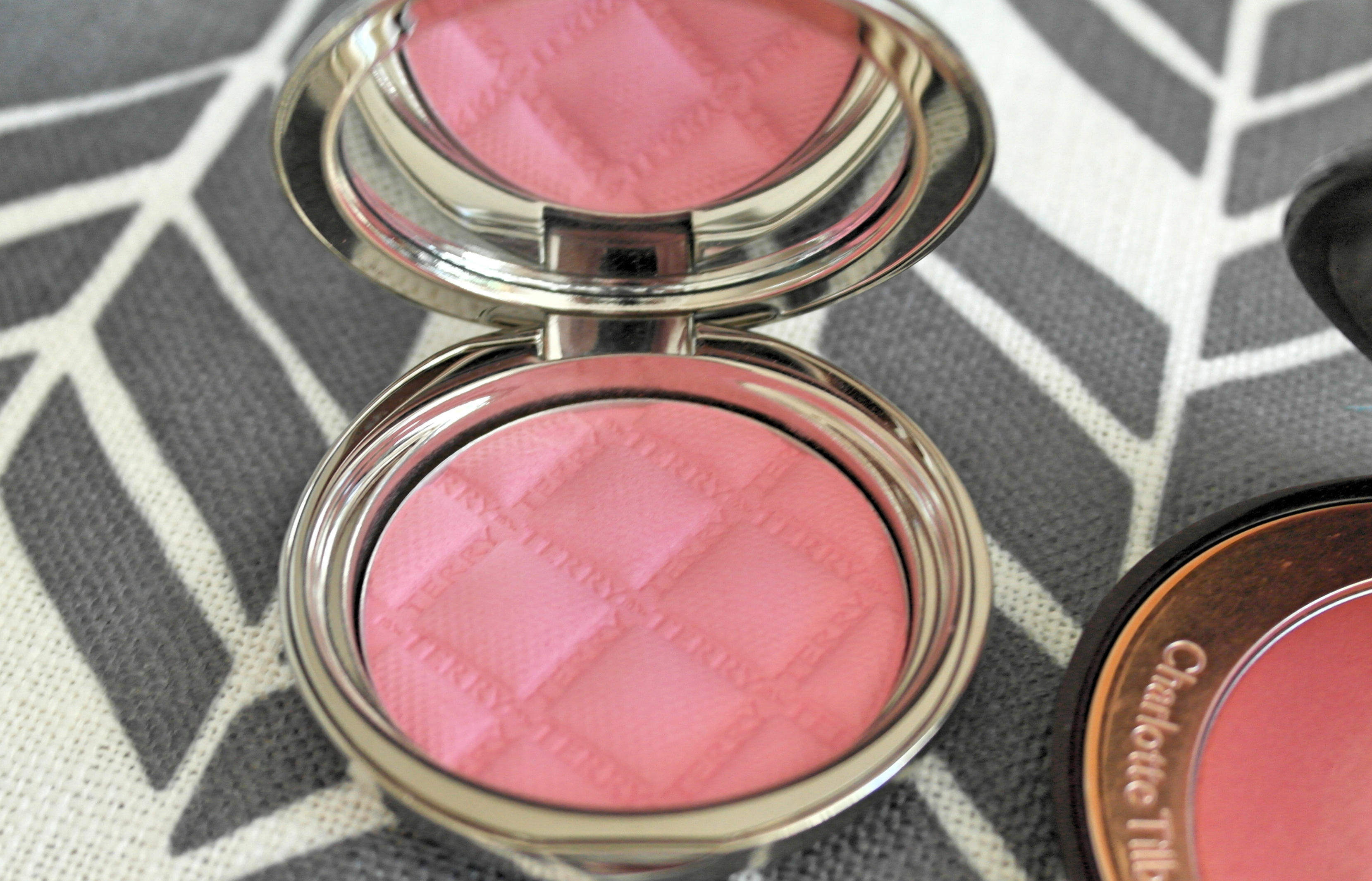 By Terry Terrybly Densiliss Blush in #5 Sexy Pink & Charlotte Tilbury Cheek to Chic Swish & Pop Blush in Love Glow