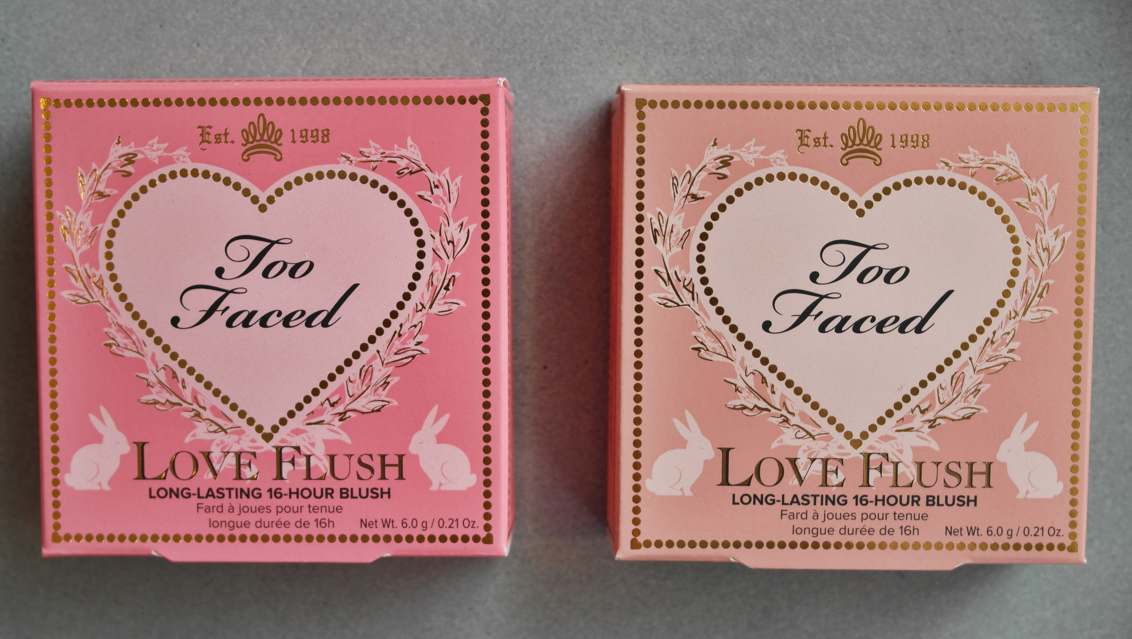 Too Faced Love Flush Blush in Love Hangover & Baby Love